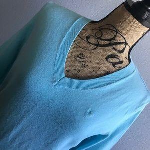 Vintage Lilly Pulitzer Blue V Neck Sweater Medium